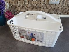 Organize cleaning products – serenity now Serenity Now, Cleaning Products, Plastic Laundry Basket, Everything, Organize, Give It To Me, Organization, Getting Organized, Organisation