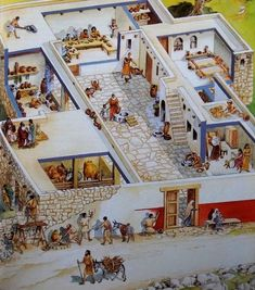 casas en israel en tiempos de jesus/PATIO CENTRAL PUERTAS INTERIORES EXTRECHAS LAVANDERIA EN LA AZOTEA AL IGUAL QUE LUGARES DE REUNION,SE SENTABAN EN MESAS BAJAS A COMER ,GUARDANBAN LAS COSA EN BAULES Y COFRES DE ALMACENAMIENTO/LEER TODO