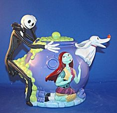 nightmare before christmas sally teapot | RARE NIGHTMARE BEFORE CHRISTMAS TEAPOT (Porcelain and Pottery-Teapots ...