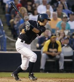 New York Yankees Ichiro Suzuki hits a second-inning single in a spring exhibition baseball game against the Pittsburgh Pirates in Tampa, Fla., Friday, March 21, 2014. (AP Photo/Kathy Willens)