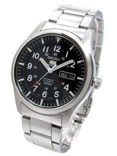 Amazon.com: Seiko 5 Sports Military Automatic Gents SNZG13J1: Watches