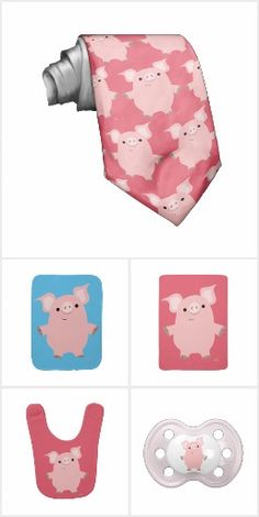 Cute Inquisitive Cartoon Pig by Cheerful Madness!!