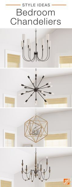 The right chandelier instantly elevates any bedroom style. Go subtly stylish with a minimalistic bronze chandelier, or give your room a touch of industrial charm with a rust-finished fixture. A geometric chandelier brings a modern touch to any space, while a vintage-inspired lighting fixture with ivory accents offers an elegant look. Click to learn more about stylish lighting options.