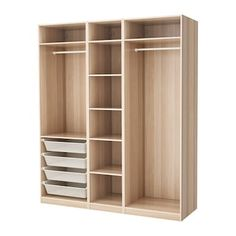 Online Ikea PAX Wardrobe - white stained oak effect - IKEA in Auckland NZ. Lowest prices and largest range of IKEA Furniture in New Zealand. Shop for Living room furniture, outdoor furniture, bedroom furniture, office and alot more ! Wardrobe Design Bedroom, Diy Wardrobe, Master Bedroom Closet, Wardrobe Ideas, Corner Wardrobe, Wardrobe Storage, Diy Placards, Closet Layout, Bedroom Cupboards