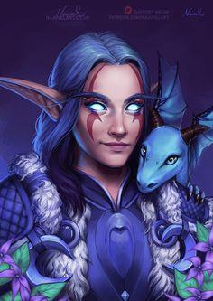 ArtStation - Warcraft Commission: Night elf and Emmigosa, Naariel Illustrations