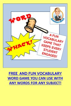 A fun vocabulary game that can be used with most ages and all subjects!