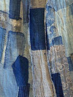 beautiful, old, boro textile / sri threads