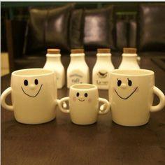 3 pz famiglia tazza mug una famiglia di tre genitore-bambino coppia tazze di ceramica creativa mano