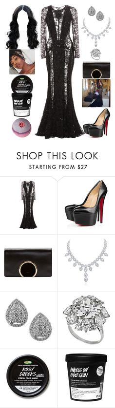 """""""MTV Movie Awards: April 26"""" by allison-syko ❤ liked on Polyvore featuring Zuhair Murad, Christian Louboutin, Chloé, EWA and Bulgari"""