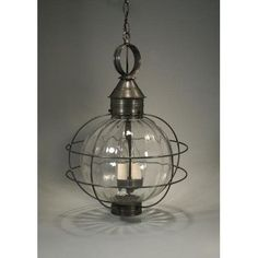 Northeast Lantern Onion 3 Light Outdoor Hanging Lantern Finish: Dark Antique Brass, Shade Type: Clear