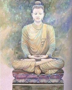 """I bathed myself in silence, wrapped warmly in the comfort of the quiet."" ~ Liz Newman Image: The Buddha ♥ lis Lotus Buddha, Buddha Artwork, Buddha Wall Art, Buddha Zen, Buddha Painting, Buddha Buddhism, Buddhist Art, Buddha Drawing, Reiki Angelico"