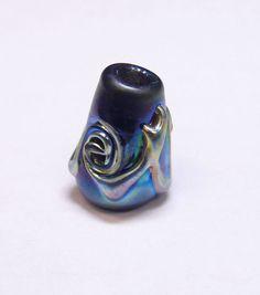 Stuart Abelman Beads - Hand Blown Art Glass Beads - Cone 10mm x 15mm - 012