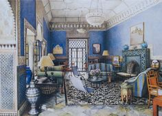 artist, Isabelle Rey, whose work carries on the proud tradition of world renowned interior illustrators.