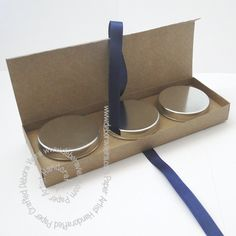 FREE DIY 3D cut files studio PDF box or wrap for 3 cans, tins or large tea lights (check size first)