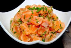 """Voici une recette tardive aux couleurs roses saumon :-) avec un petit """"Tard""""Tare de saumon asiatique #homemade #homecooking #homecooked"""