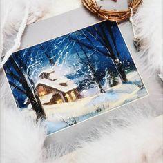 """2,904 Likes, 21 Comments - Еlena Tatkina (@elenatatkina) on Instagram: """"С Рождеством Христовым!  Ух... ну и мороз сегодня ❄ #изархива #пастель #праздничноенастроение…"""""""