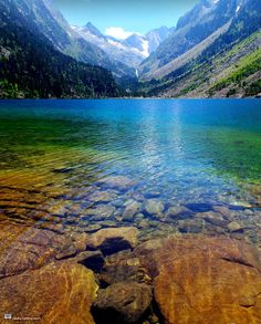 Gaube Lake in the French Pyrenees near the town of Cauterets, Southwestern France ✯ ωнιмѕу ѕαη∂у