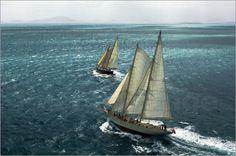 """Bild von Mauricio Handler - """"Zwei Segelschiffe auf dem Meer"""""""