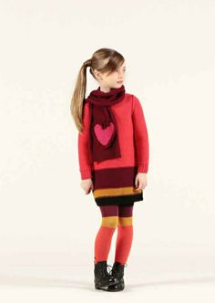 Sonia Rykiel Enfant winter 2012 Great colour blocked tights to match the vibrant knitwear