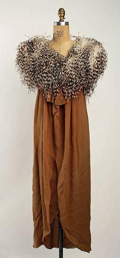 Evening Dress, Bill Blass, 1979, American, silk and ostrich feathers