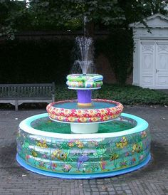 funny inflatable fountain water