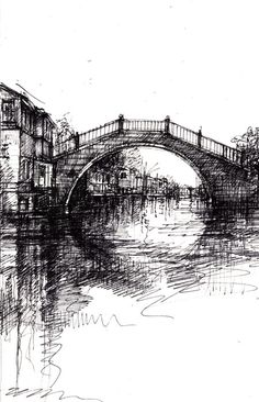 ian murphy. Using biro. Incorporate own images of venice