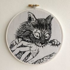Hey, I found this really awesome Etsy listing at https://www.etsy.com/listing/236669387/junji-ito-hand-embroidery-cat-diary