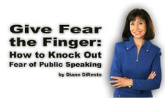 Want to be a more confident public speaker? Video on page 32 shows you how to literally 'give fear the finger' using a simple technique to reduce public speaking anxiety.