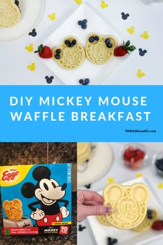Celebrate in style with this DIY Mickey Mouse Waffle Breakfast. Birthday Breakfast, Second Breakfast, Breakfast Station, Breakfast Ideas, Happy Birthday Mickey Mouse, Minnie Mouse, Disney Diy, Disney Food, Waffle Recipes