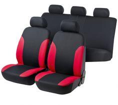 Autositzbezug Stella schwarz/rot von Walser