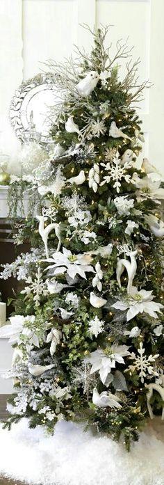 White decorated tree