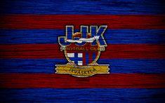 Download wallpapers JJK Jyvaskyla FC, 4k, Veikkausliiga, football club, logo, Finnish Premier Division, Finland, JJK Jyvaskyla, football, wooden texture, FC JJK Jyvaskyla