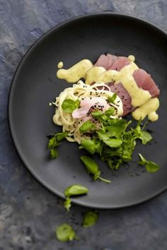 NOMU is an original South African food and lifestyle concept by Tracy Foulkes. Fish Recipes, Pasta Recipes, South African Recipes, Ethnic Recipes, Noodle Salad, Sashimi, Turmeric, Potato Salad, Noodles