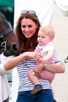 Kate And Prince George at polo