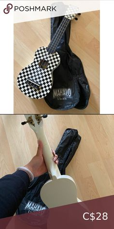 Mahalo Ukulele (Checkered design) SO CUTE! Got at Steve's music store in Downtown Toronto. I have fake nails which prevent me from playing. Needs a new home! Other Mahalo Ukulele, Checker Design, Downtown Toronto, Music Store, Best Deals, Nails, Cute, Closet, Things To Sell