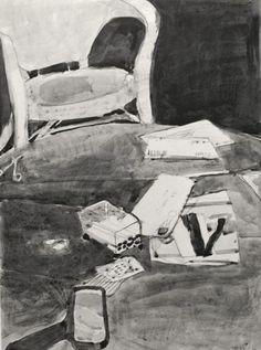 Richard Diebenkorn's Ink-Wash Drawings