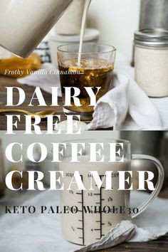 Creamy, silky, easy and most importantly cost effective! This homemade dairy free coffee creamer makes your cup of joe smooth and even frothy without a blender! Boosted yet unsweetened this creamer is Whole30 compliant, keto friendly and paleo!