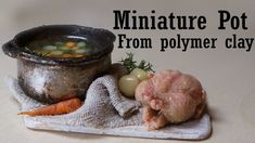 Quick Polymer Clay Tutorial; Miniature Pot (Kitchenware) - YouTube