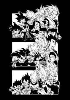 The evolution of the three strongest Sayians