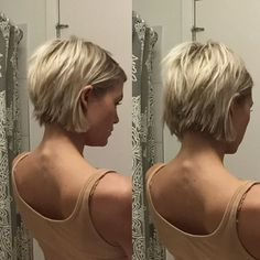 @krissafowles short blonde choppy hair