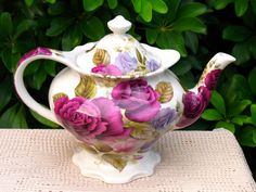 Beautiful Teapot.  https://www.etsy.com/listing/462090941/victorias-secret-footed-sadler