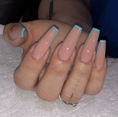Easy DIY Valentines Nail Designs for Short Nails – Resk Cute Acrylic Nail Designs, Simple Acrylic Nails, Blue Acrylic Nails, Square Acrylic Nails, Summer Acrylic Nails, Long Nail Designs, Square Nails, Acrylic Nails With Design, Acrylic Nail Shapes