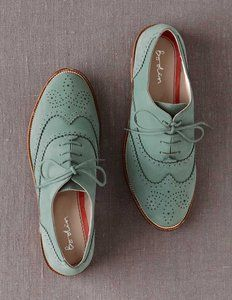 Teal Oxfords