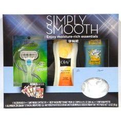 Simply Smooth Gift Set: Olay Body Wash 8.4 Oz, Secret Deodorant 1.6 Oz, Venus Razor & Puff $14.89
