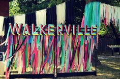 festival signage inspired by Morgan Myerscough