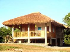 House in Laos Bamboo Architecture, French Architecture, Filipino House, Bamboo House Design, Bahay Kubo, Rest House, House On Stilts, Bamboo Crafts, Tropical Houses