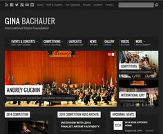 Website Re-design Complete - www.Bachauer.com - Website Re-design Work Overview Gina Bachauer International Piano foundation website has received a brand new look. The new website has been designed to provide the ultimate user-friendly experience with improved navigation and functionality throughout, allowing customers to access detailed product information and videos with the option to share information across all major social networking sites. The Bachauer Foundation also