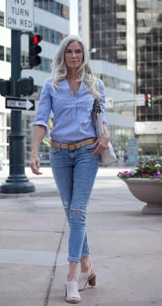 Roxanne Gould wearing Jeans Fashion Over 50 Ageless Timeless
