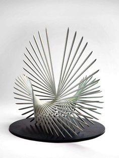 Abstract Sculpture in Bronze - Charlotte Mayer - www.gardengallery.uk.com