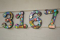 Finally got to make mosaic numbers for MY house!!  It's about time!!  $28.00 EACH